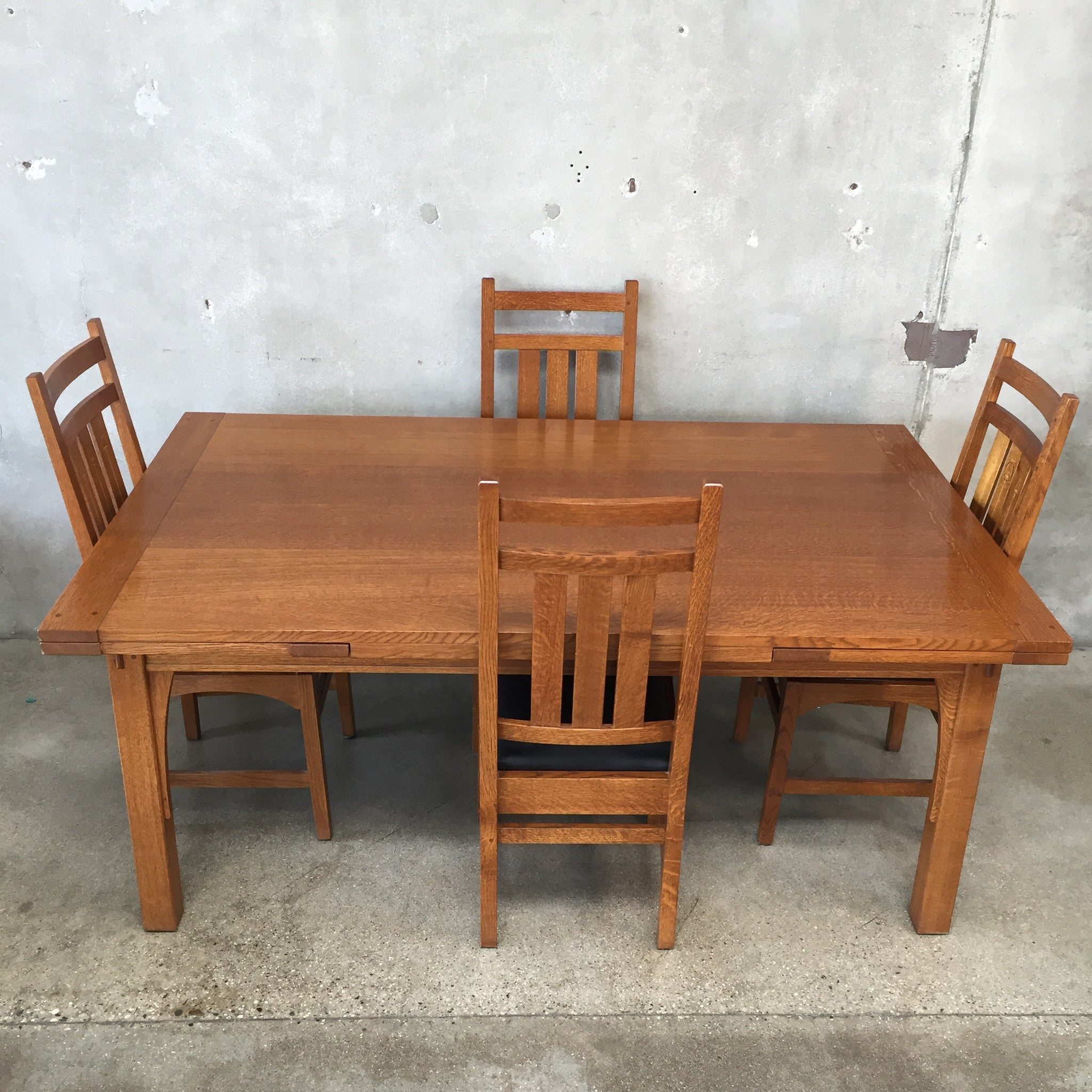 Vintage Stickley Dining Table Chairs