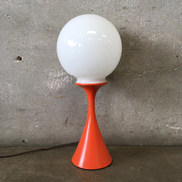 Vintage Orange Table Lamp by Laurel