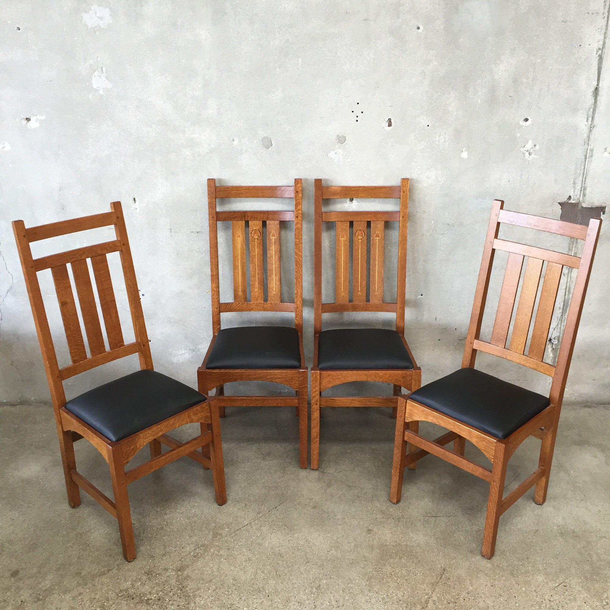 vintage stickley dining table chairs urbanamericana vintage stickley dining table chairs