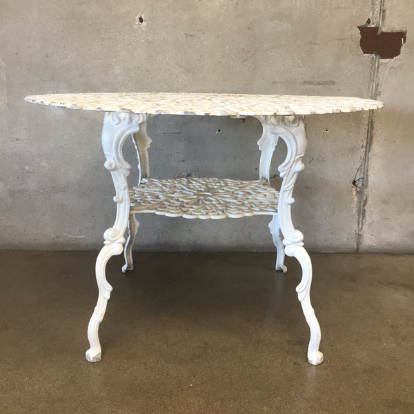 Vintage Aluminum Patio Table