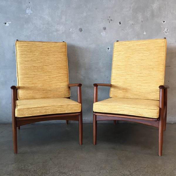 Pair of Mid Century Vintage Lounge Chairs