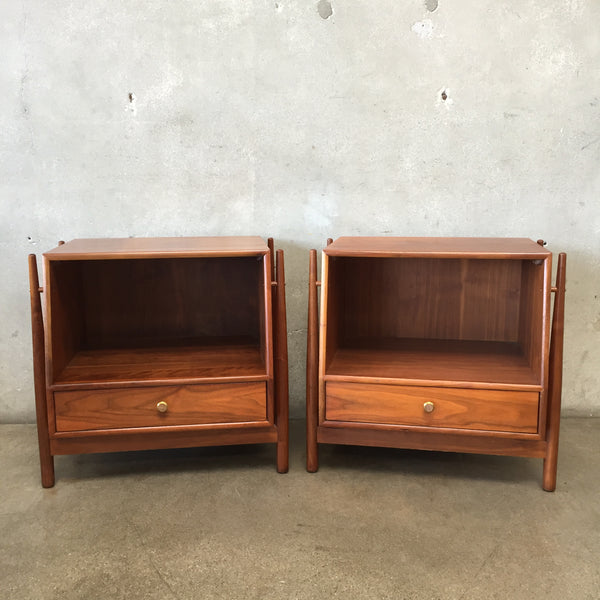 Vintage Mid Century Nightstands Designed by Kipp Stewart for Drexel Declaration