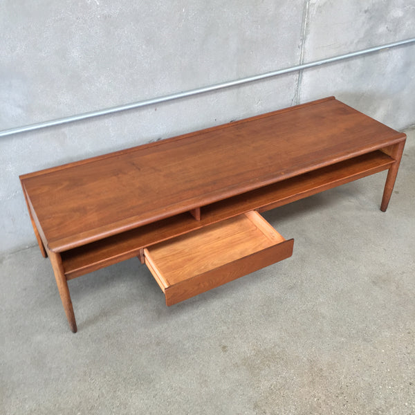 Drexel Mid Century Coffee Table With Drawer