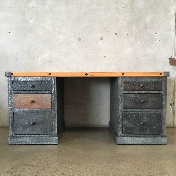Industrial Metal & Wood Desk