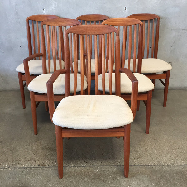 Set of 6 Mid Century Teak Dining Chairs by Benny Linden