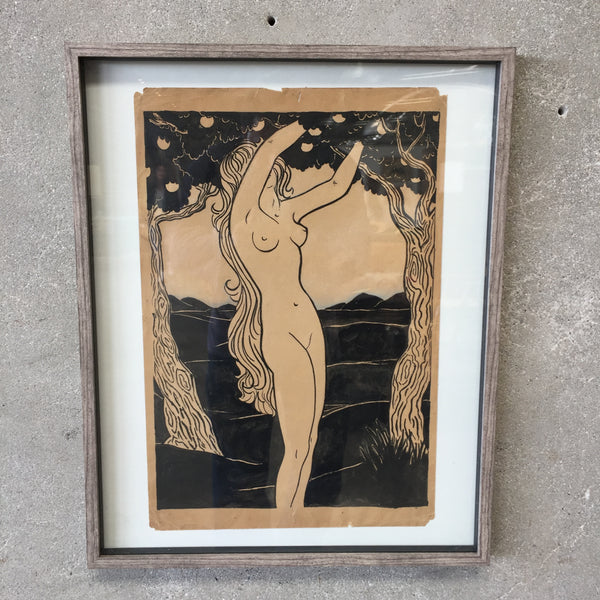 Nude Lady Framed Art
