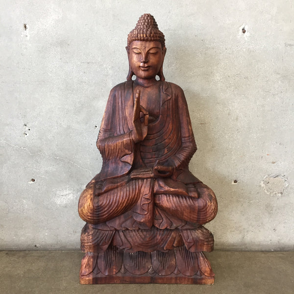 Hand Carved Teak Wood Buddha
