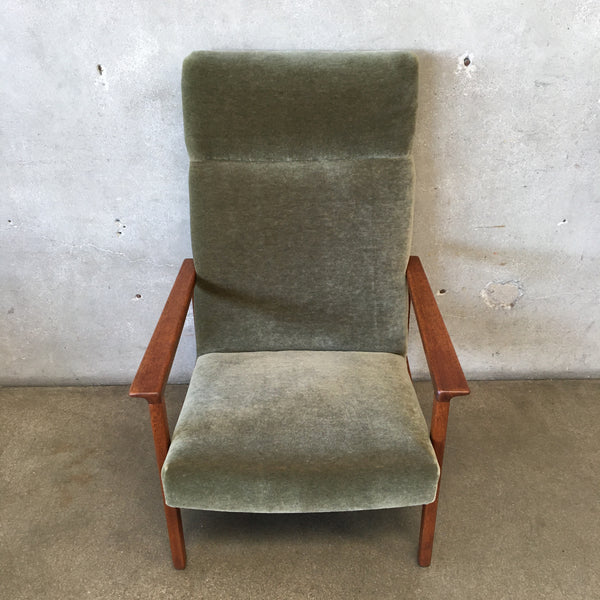 Mid Century Danish Teak Lounge Chair - New Upholstery