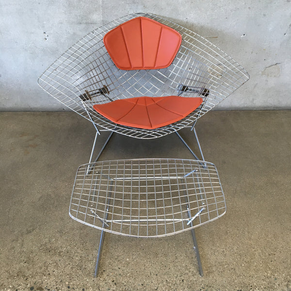Bertoia Diamond Chair and Ottoman