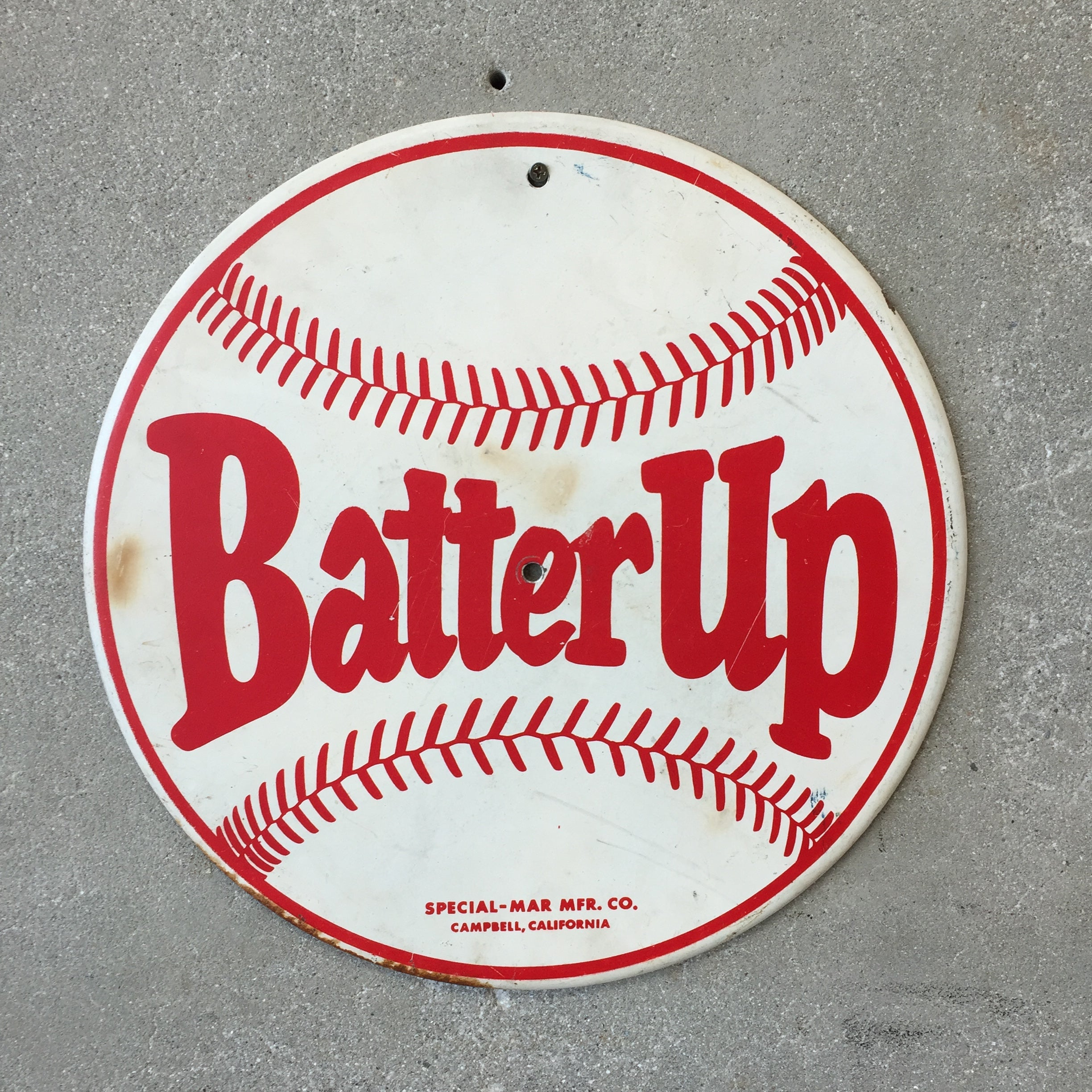 Vintage Batter Up Baseball Sign