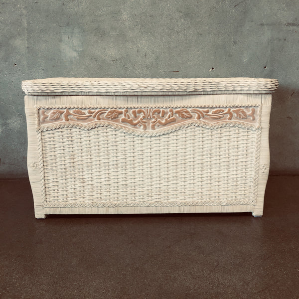 Pier One Rattan Beach Cottage Chest Triple Wicker