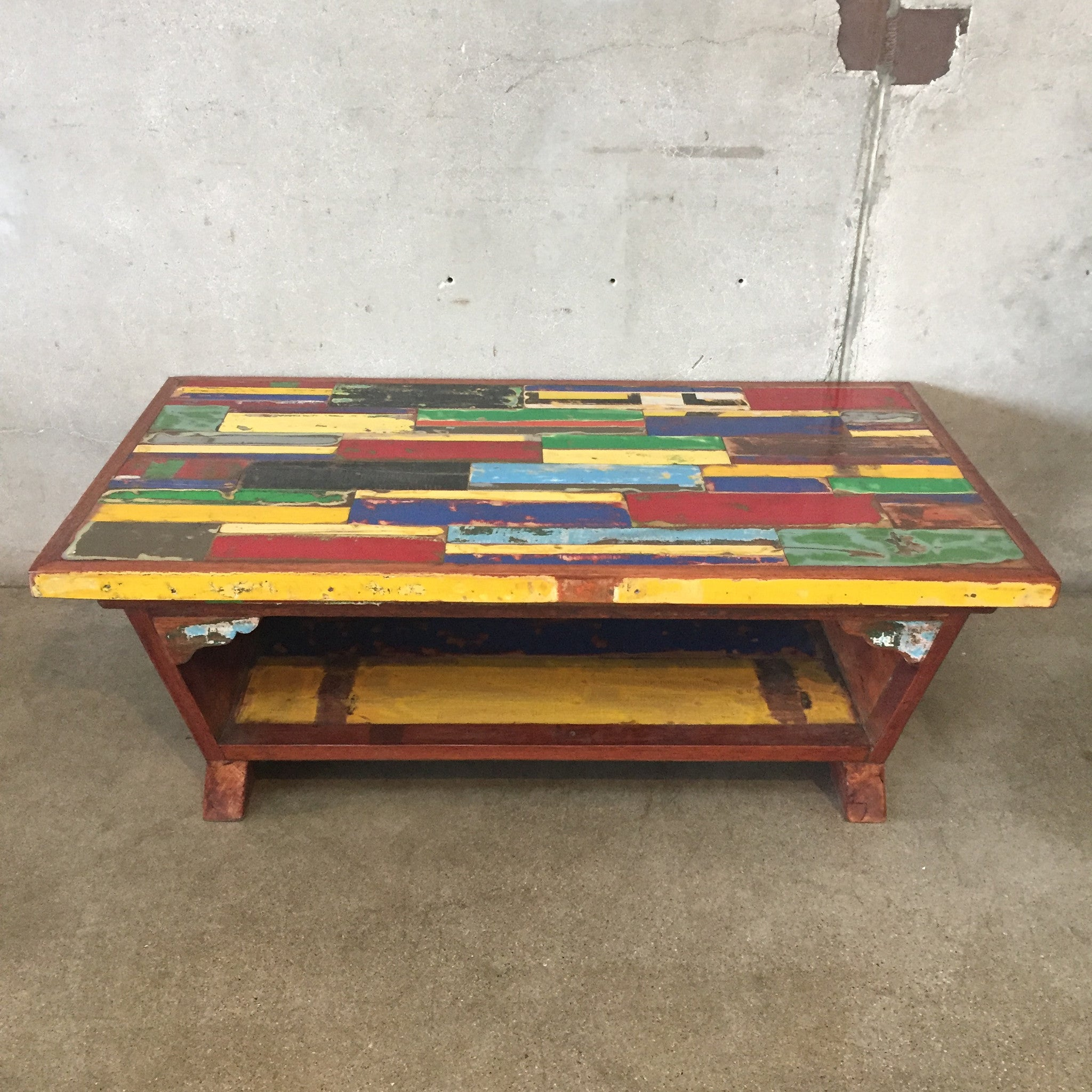 Reclaimed Boat Wood Coffee Table – UrbanAmericana