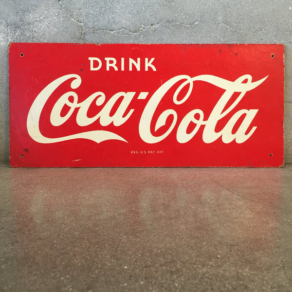 WWII Coca Cola Masonite Sign