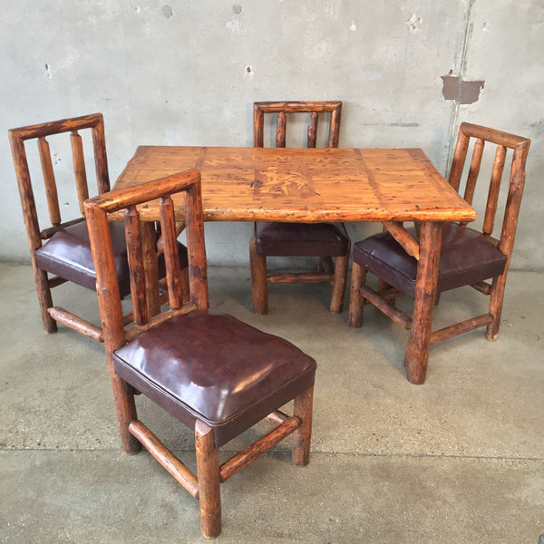 Rustic Lodge Table & Chairs