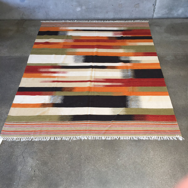 SPECTRUM FIELD Indian Kilim Multi Rug 8x10