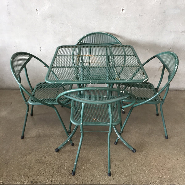 Mid Century Modern Outdoor Salterini Patio Set
