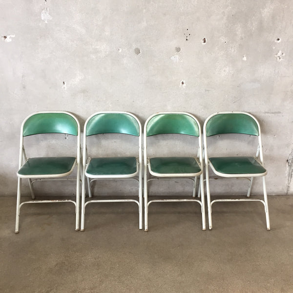 Set of Four Samsonite Folding Chairs