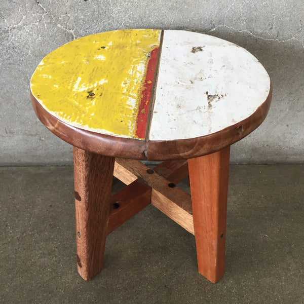 Small Reclaimed Teak Stool