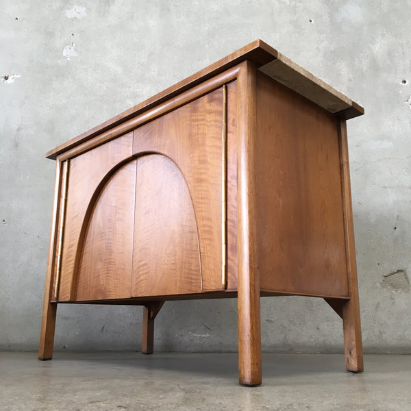 Vintage Mid Century Drexel Bar with Marble Top