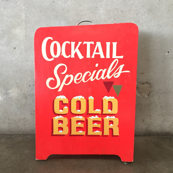 Hand Painted Cocktails/Cold Beer Two Sided A Frame Sign