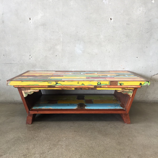 Reclaimed Teak Wood Coffee Table