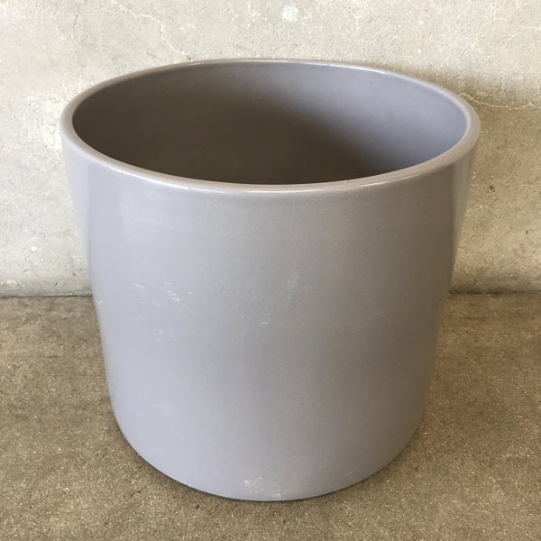 Vintage Mid Century Glossy Gray Gainey Planter