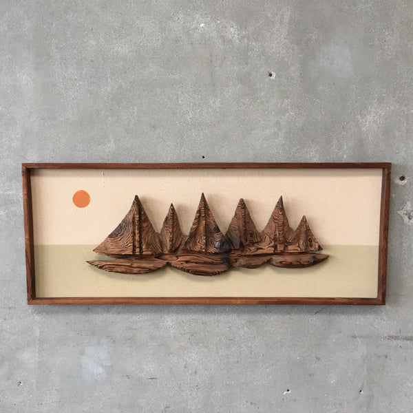 Mid Century Witco Framed Sail Boats