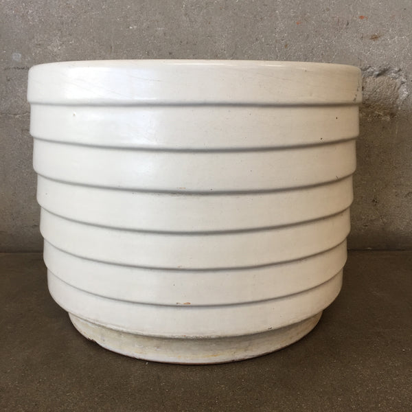US Pottery Mid Century White Flower Pot