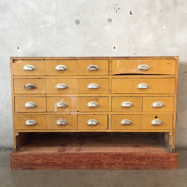 Yellow Multi Drawer Industrial Cabinet