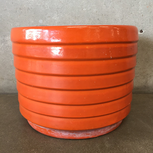 US Pottery Mid Century Orange Flower Pot