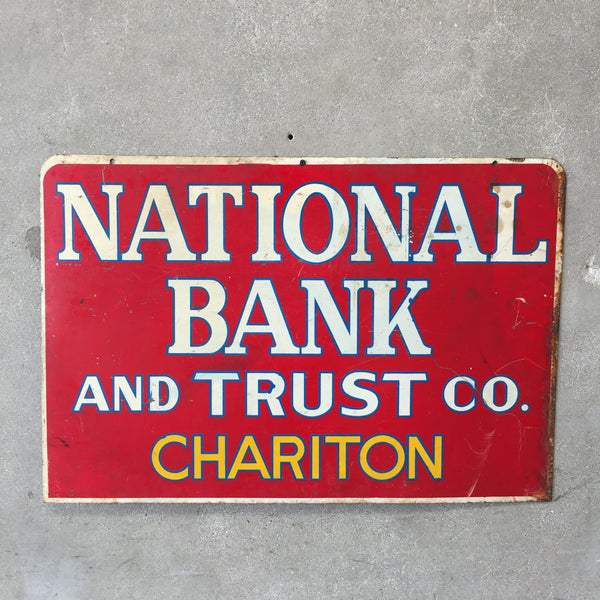 National Bank & Trust Chariton Tin Double Sided Sign