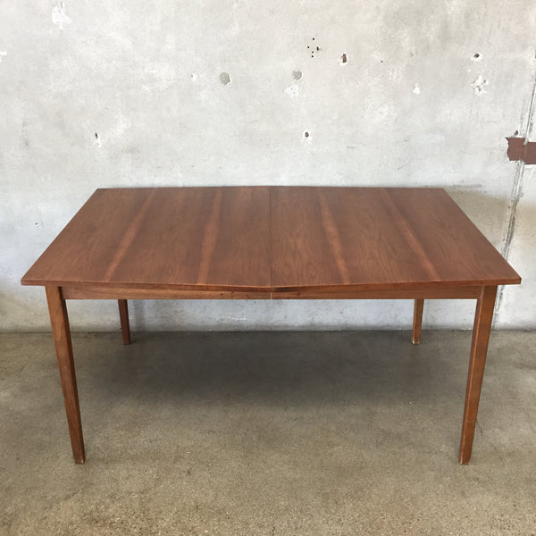 Mid Century Stanley Dining Table with Leave