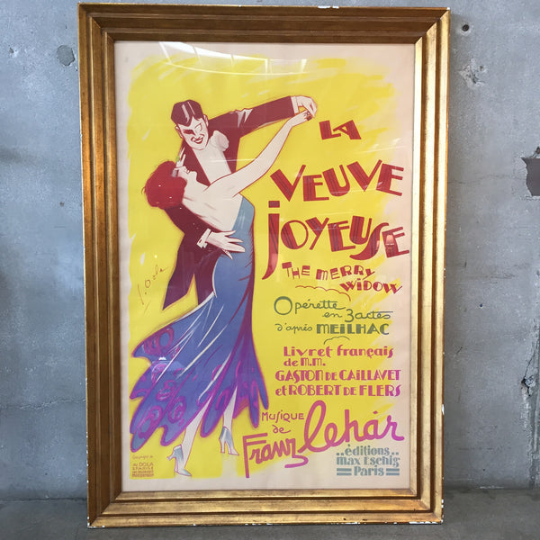 Original Art Deco Poster