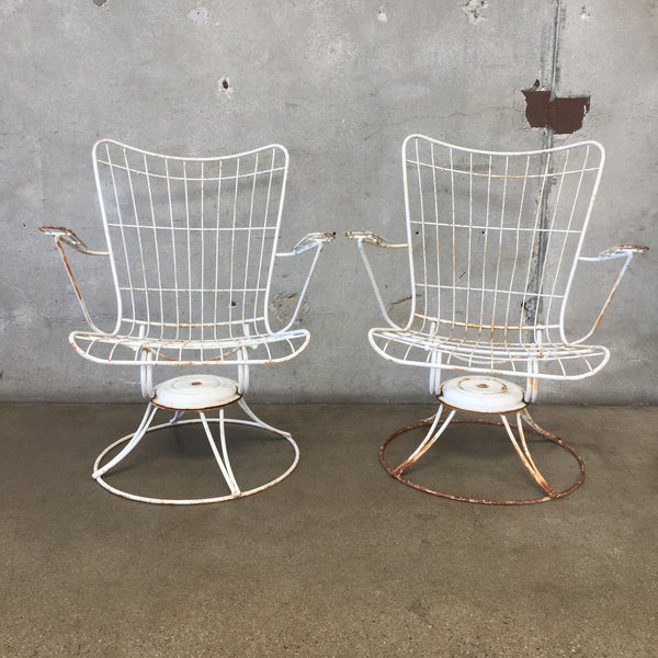 Pair Of Vintage Mid Century Modern Metal Chairs BY Homecrest
