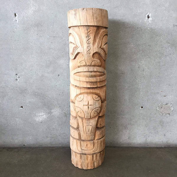 Hand Carved Wood Tiki