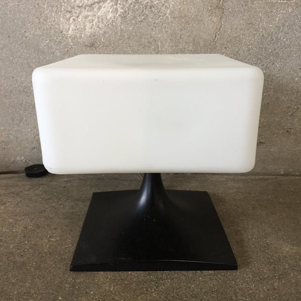 Rare Mid Century Square Lamp by Laurel Lamp Co.