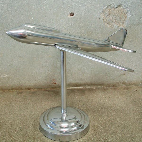 Metal Art Deco Airplane Model