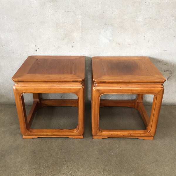 Pair of Asian End Tables
