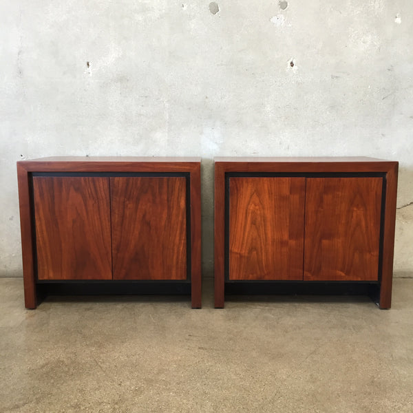 Pair of Mid Century Walnut Nightstands-Reserve for Valerie