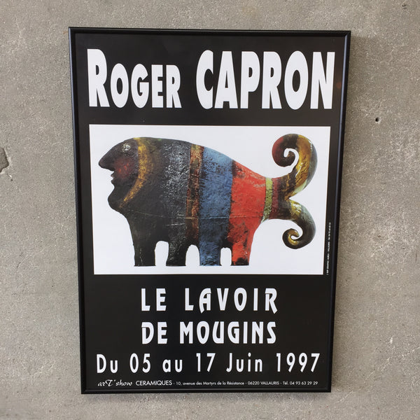 Vintage Roger Capron Gallery Exhibition Poster