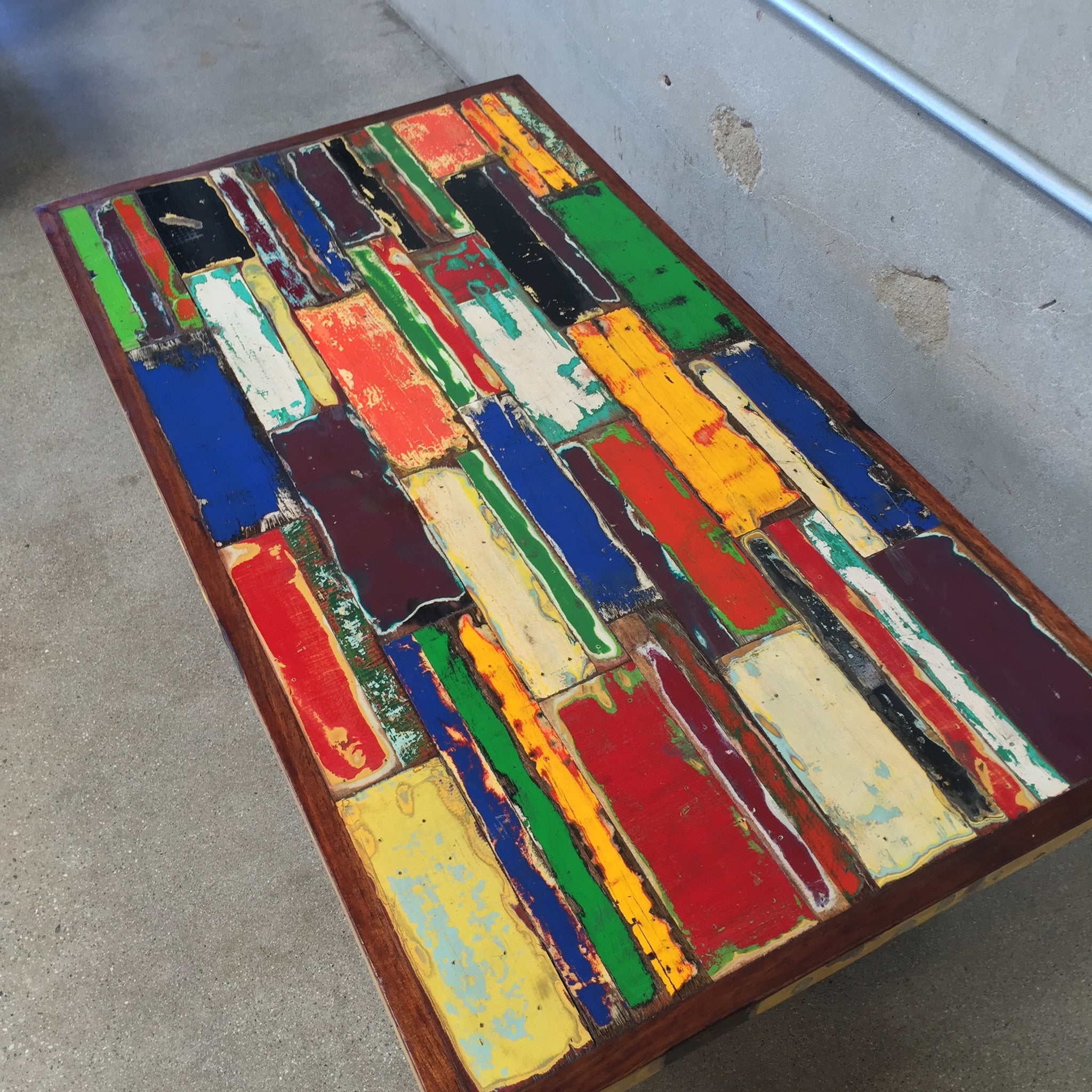Coffee Table made from Reclaimed Boat Wood – UrbanAmericana