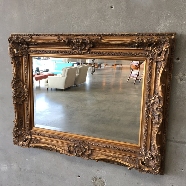 Large Beveled Mirror with Antique Gilt Frame