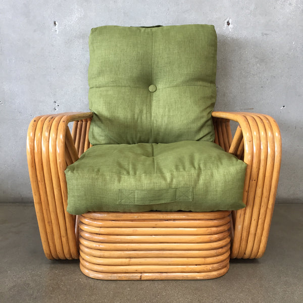 Mid Century Paul Frankl Style Five Strand Bamboo Chair