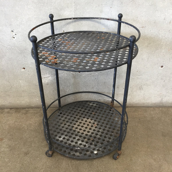Vintage Iron Two Tiered Round Table