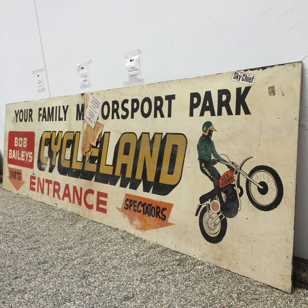 Bob Baileys Cycle Land Sign