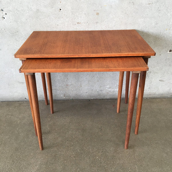 Pair of Danish Teak Nesting Tables