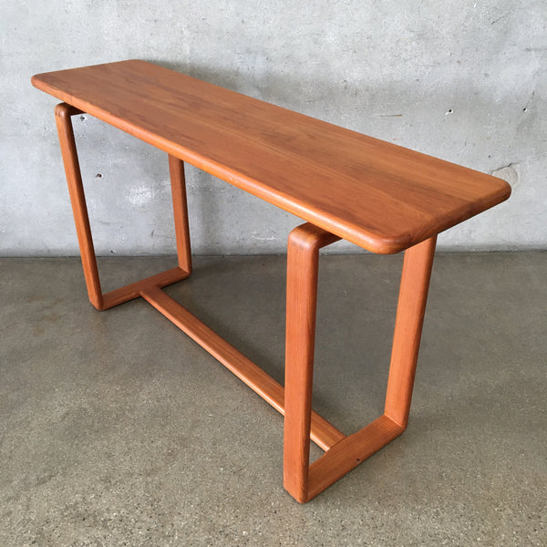 Vintage Solid Teak Console Table
