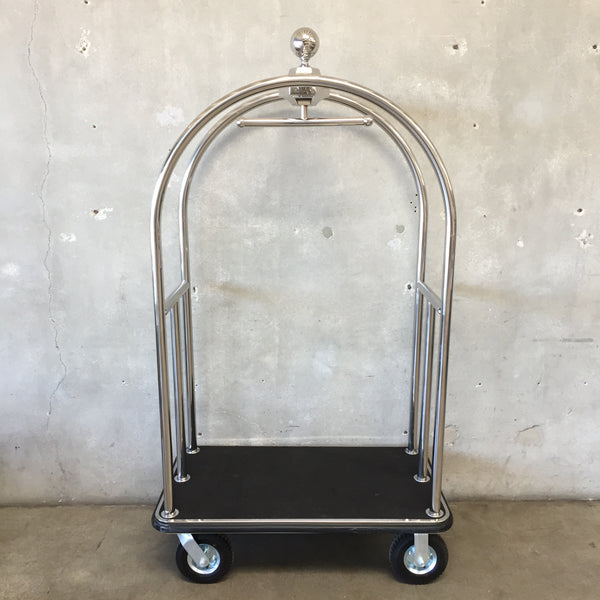 Vintage Chrome Bellman's Cart
