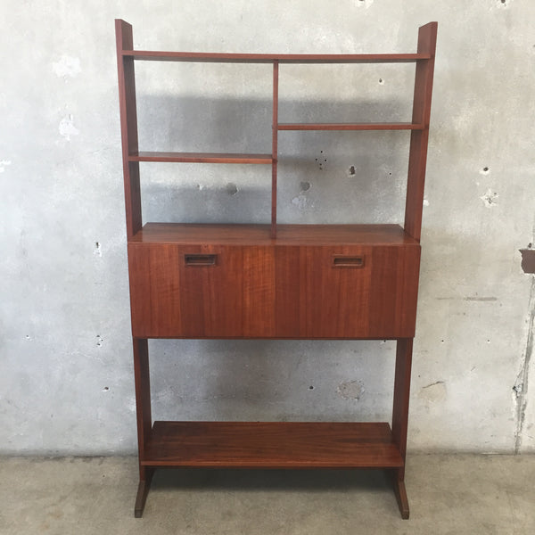 Mid Century Freestanding Drop Leaf Desk