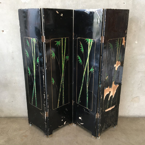 Vintage Asian Wood Room Divider
